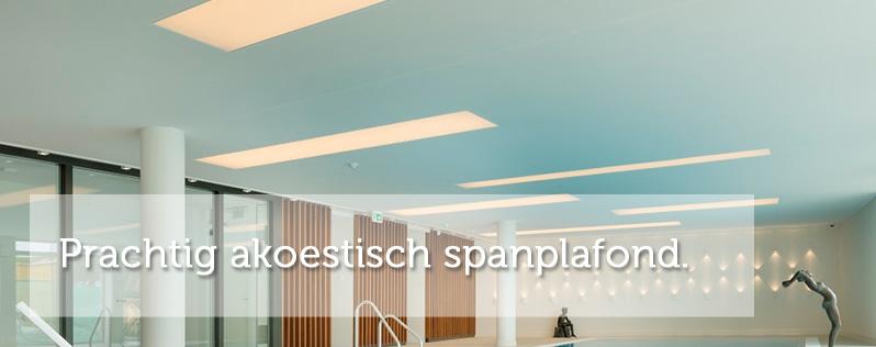 Prachtig akoestisch spanplafond