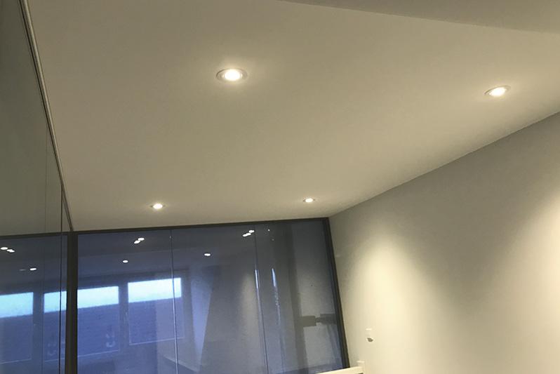 Spanplafond met akoestische werking