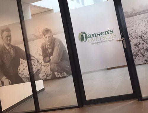 Jansen's Overseas zandstraaleffect folie