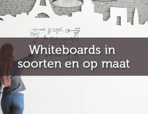 Whiteboardwanden in soorten en op maat
