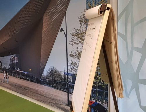 Visuals op wanden bij Sweco Rotterdam