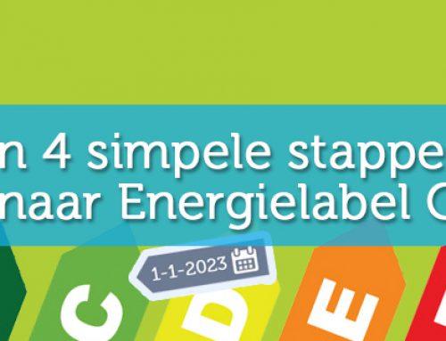 In 4 simpele stappen naar Energielabel C