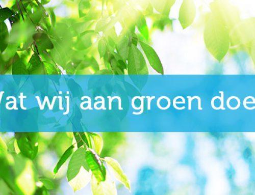 Wat wij aan groen doen